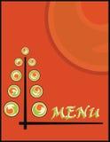 Menu de sushi Images stock