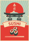 Menu de sushi Photos stock