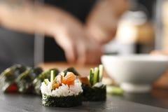 Menu de sushi Photos libres de droits