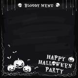 Menu de tableau de partie de Halloween Photo libre de droits