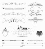 Menu Decorations Royalty Free Stock Images