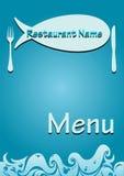 Menu dei pesci del ristorante di vettore Fotografie Stock