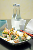 Menu dei sushi Fotografia Stock