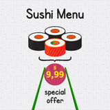 Menu dei sushi Immagine Stock