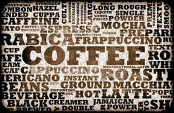 Menu del caffè Fotografia Stock