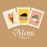 Menu del dessert Fotografia Stock