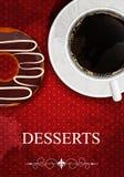 Menu del dessert di vettore Fotografia Stock