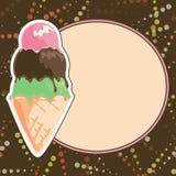 Menu del gelato Immagini Stock