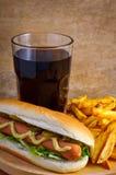 Menu del hot dog Fotografia Stock Libera da Diritti