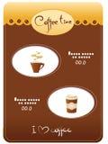 Menu del modello di caffè Immagine Stock
