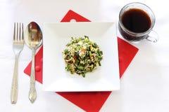 Menu del pranzo dell'insalata Fotografia Stock