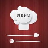 Menu del ristorante Fotografia Stock Libera da Diritti