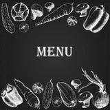 Menu 7 del ristorante Immagini Stock Libere da Diritti