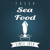 Menu del ristorante dei frutti di mare Fotografia Stock Libera da Diritti