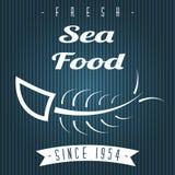 Menu del ristorante dei frutti di mare Fotografia Stock