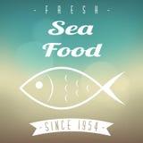 Menu del ristorante dei frutti di mare Immagini Stock Libere da Diritti
