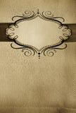 Menu del ristorante, disegno dell'annata con il posto per tex Fotografie Stock