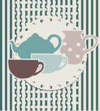 Menu del tè del caffè Fotografia Stock