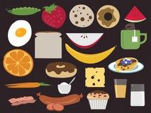 Menu dell'alimento di prima colazione Fotografia Stock