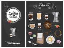 Menu dell'illustrazione dell'elemento del caffè royalty illustrazione gratis