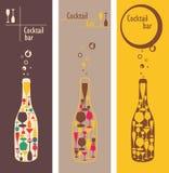Menu della barra del cocktail illustrazione di stock