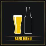 Menu della birra Fotografie Stock