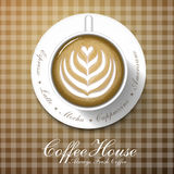 Menu della caffetteria Immagini Stock Libere da Diritti