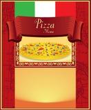 Menu della pizza immagine stock libera da diritti