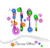 Menu della primavera Immagine Stock