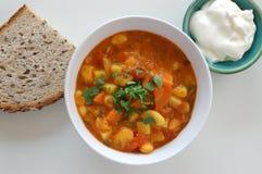 Menu della zuppa di fagioli Immagine Stock