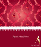 Menu design Stock Images