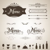 Menu design. Elegant menu design element set Royalty Free Stock Photography
