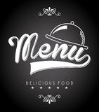 Menu design Stock Image