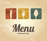 Menu design Stock Image