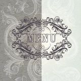 Menu design in antique style with frame Stock Images