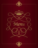 Menu design background Royalty Free Stock Images