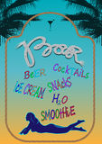 Menu design bar beach Royalty Free Stock Photo