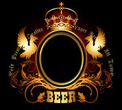 Menu design with beer Royalty Free Stock Photography