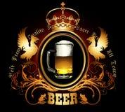 Menu design with beer Royalty Free Stock Photos