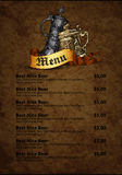 Menu design with beer Royalty Free Stock Images