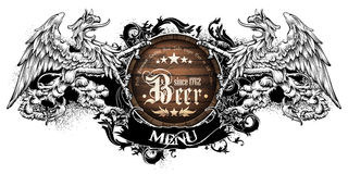 Menu design with beer Royalty Free Stock Photo