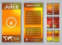 Menu design with blurred background Royalty Free Stock Images