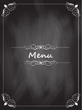 Chalkboard menu design Stock Photography