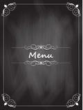 Chalkboard menu design Stock Photography