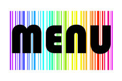 Menu design in colorful rainbow Royalty Free Stock Image