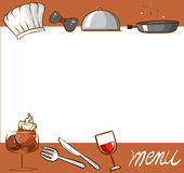 Menu design with culinary objects Stock Image