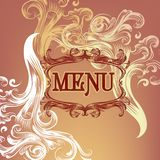 Menu design with floral elements Royalty Free Stock Image