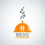 Menu design food drink dishes background Stock Images