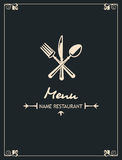 Menu design Stock Photography