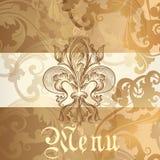 Menu design with heraldic Royalty Free Stock Photo